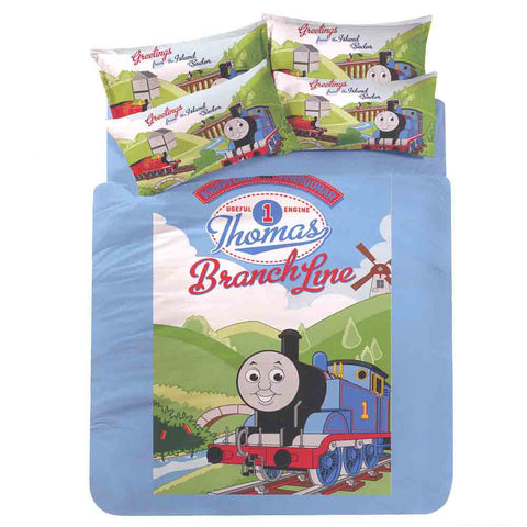 Picture of Thomas 3 Piece Single Bedding Set: Branch Line