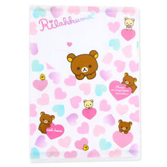 Rilakkuma A4 File Case: Hearts