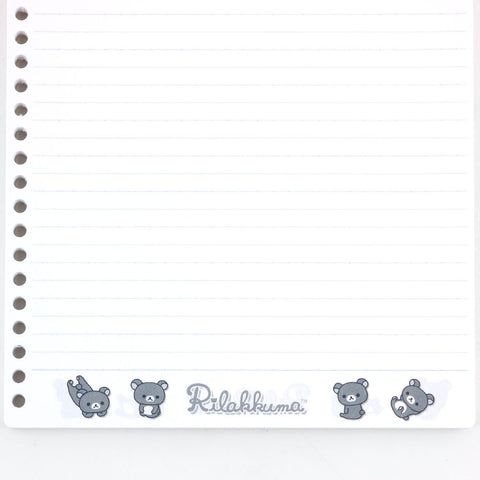 Picture of Rilakkuma Loose Leaf Notesheet: B5 size 100 sheets and 26 holes