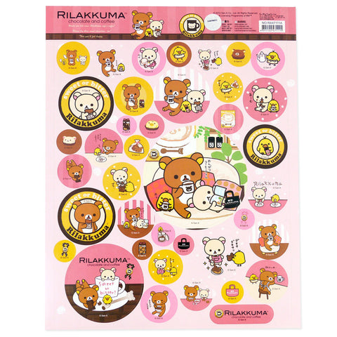 Picture of Rilakkuma Sticker Sheet: Chocolate & Coffee