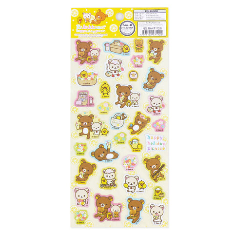 Picture of Rilakkuma Sticker: Happy Holiday Picnic