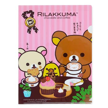 Picture of Rilakkuma A4 File: Chocolate & Coffee