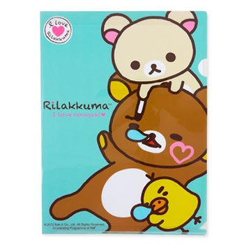 Picture of Rilakkuma A4 File: I Love Rakugaki