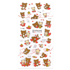 Rilakkuma Stickers: Hearts