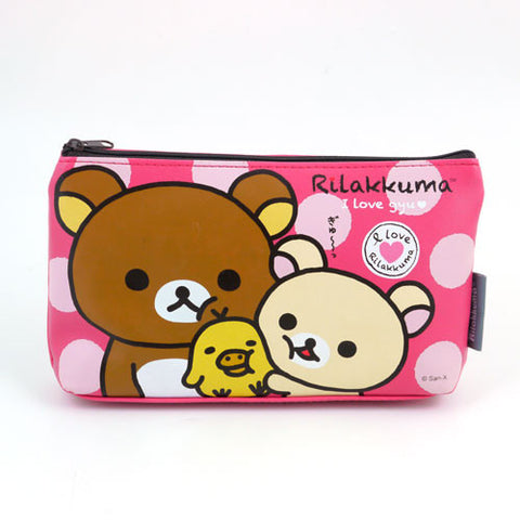 Picture of Rilakkuma Pencil Case: Pink/I Love Gyu