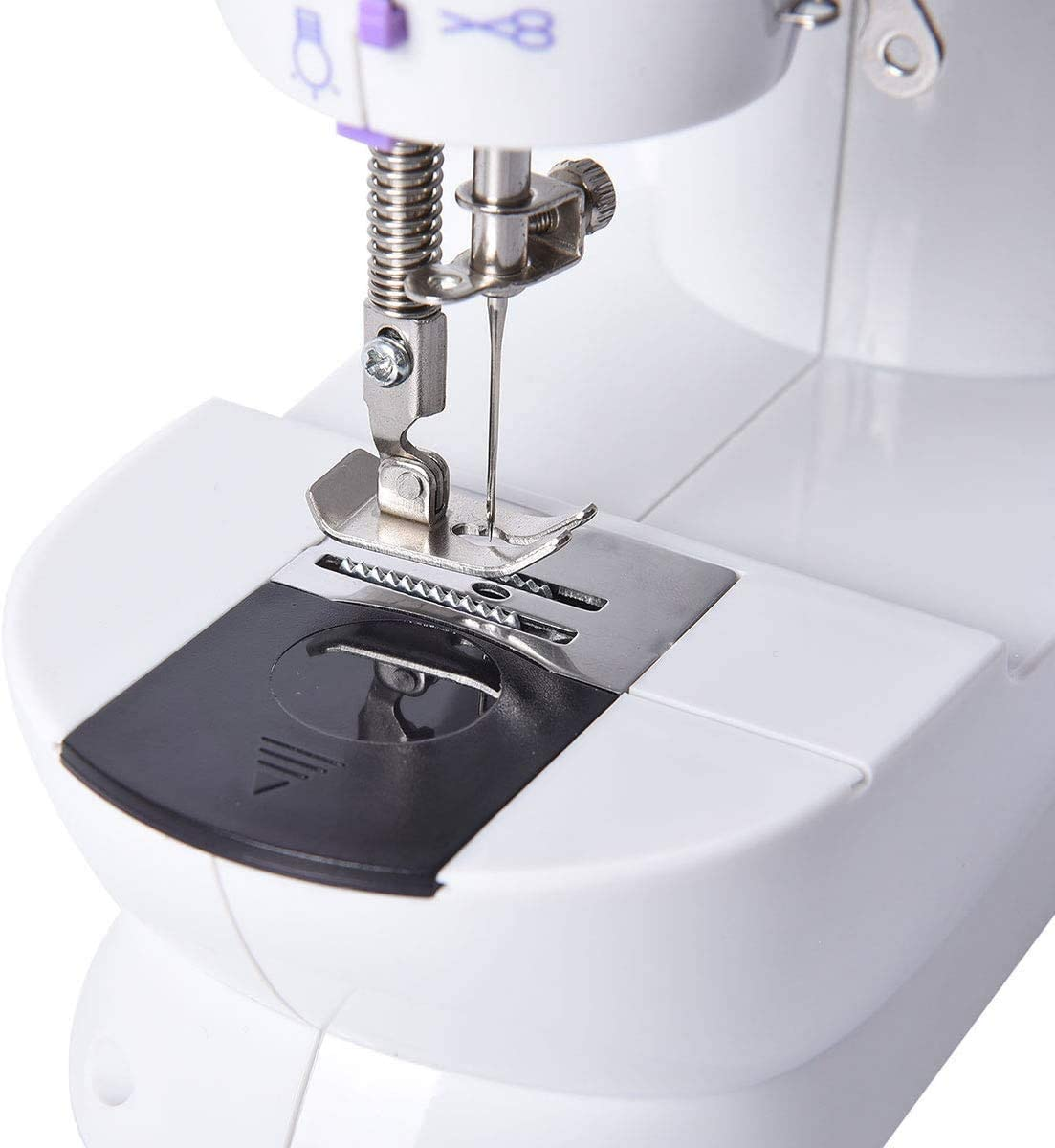 Mini Portable Sewing Machine Small Electric Crafting Mending Machine  2-Speed Double Thread with Foot Pedal for Household Kids Beginner Sewing  Machines evertribehq Arts, Crafts & Sewing