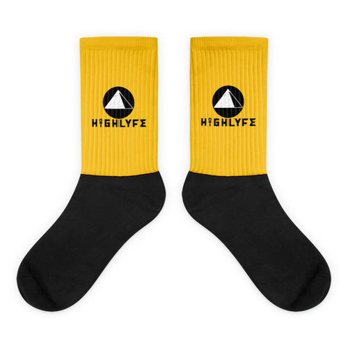 UNISEX SOCKS. | YELLOW/BLACK.