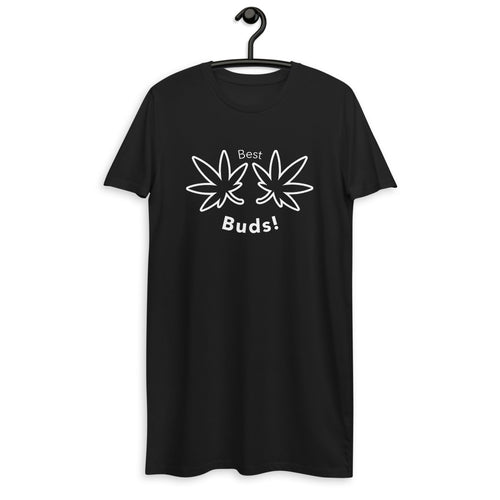 BEST BUDS! || ORGANIC COTTON T-SHIRT DRESS.