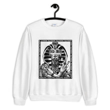 Load image into Gallery viewer, THE SMOKING PHARAOH. || BLACK & WHITE. || CREW NECK SWEATER.