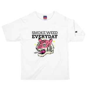 SMOKE WEED EVERYDAY. || CHAMPION STONED TIGER TEE.