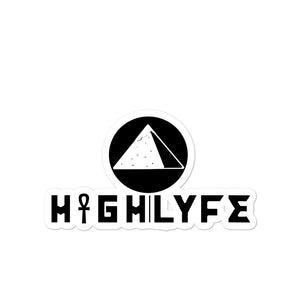 HIGH|LYFE USA LOGO. || BUBBLE-FREE STICKERS.