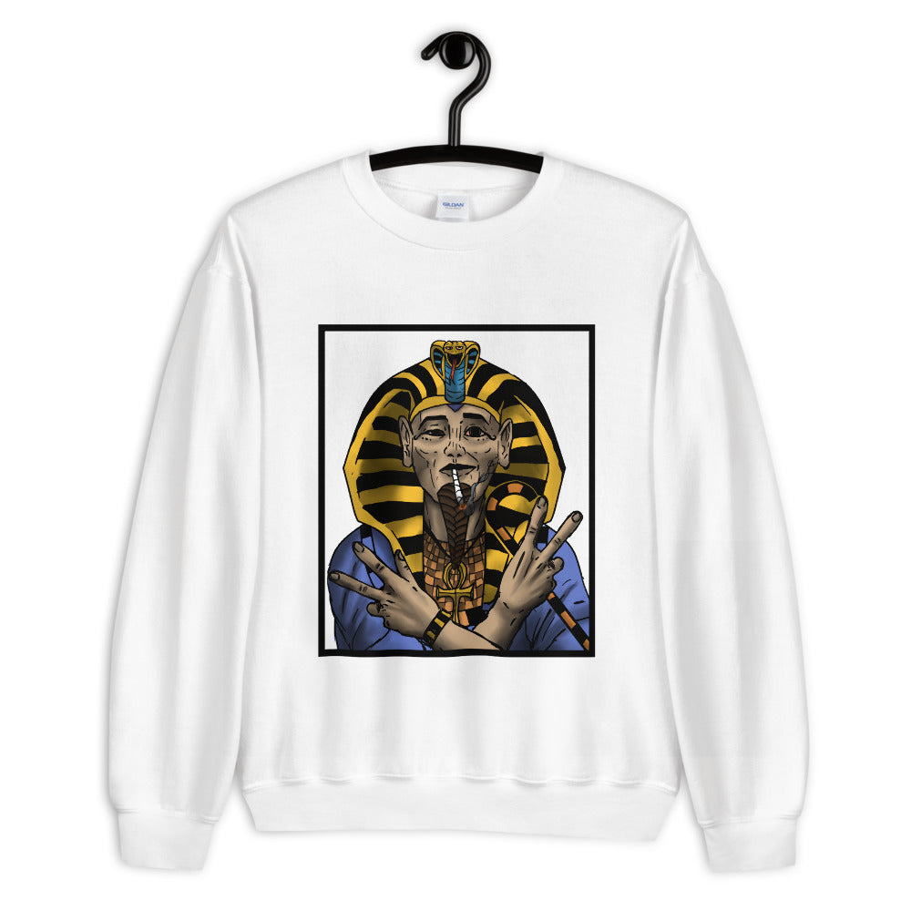 THE SMOKING PHARAOH. || IN COLOR. || CREW NECK SWEATER.