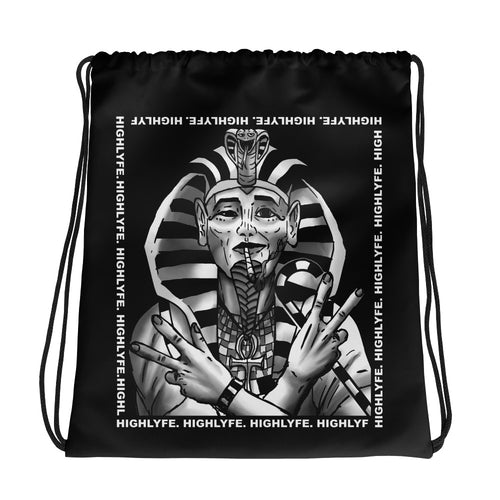SMOKING PHARAOH. DRAWSTRING BACKPACK