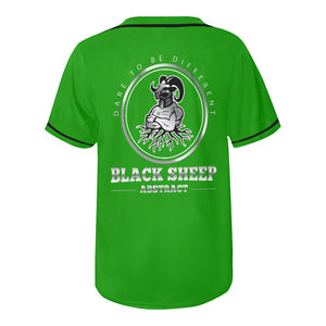 Black sheep All Over Print Baseball Jersey for Men (Model T50)
