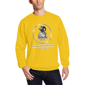 Black sheep Men's Oversized Fleece Crew Sweatshirt (Model H18)