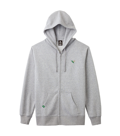 V MARK FULL ZIP PARKA(グレー)
