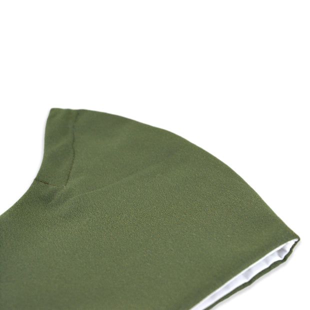 3 layer reusable sage green face mask sasmask by screen and shield