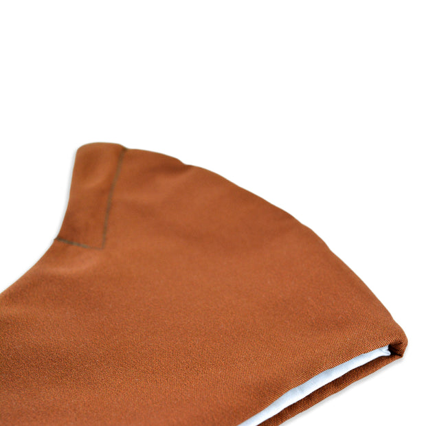 3 layer reusable brown cinnamon face mask sasmask by screen and shield