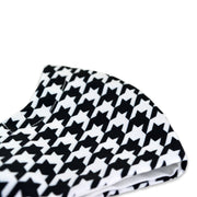 3 layer reusable face mask with black white houndstooth pattern sasmask by screen and shield