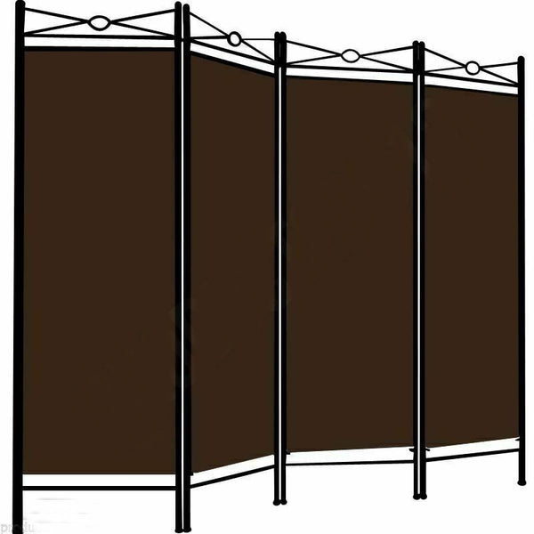 Spanish Room Divider - 4 Panel - Brown