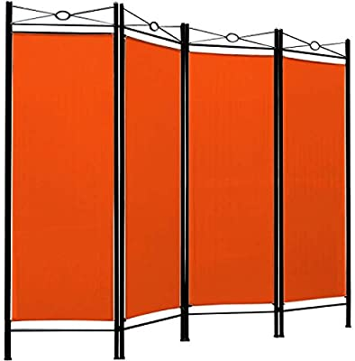 Spanish Room Divider - 4 Panel - Orange
