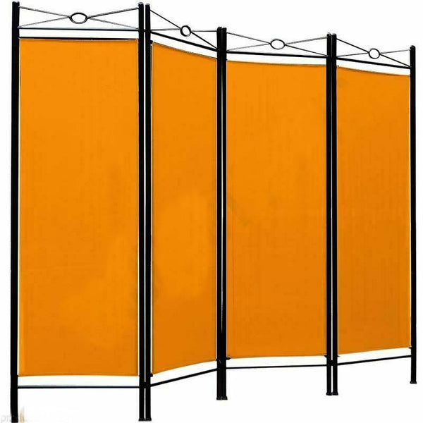 Spanish Room Divider - 4 Panel - Yellow