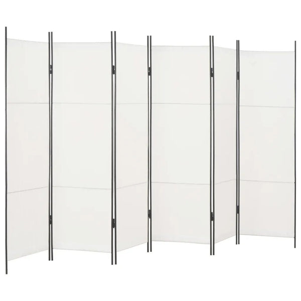 Louga 6 Panel Room Divider Screen - White