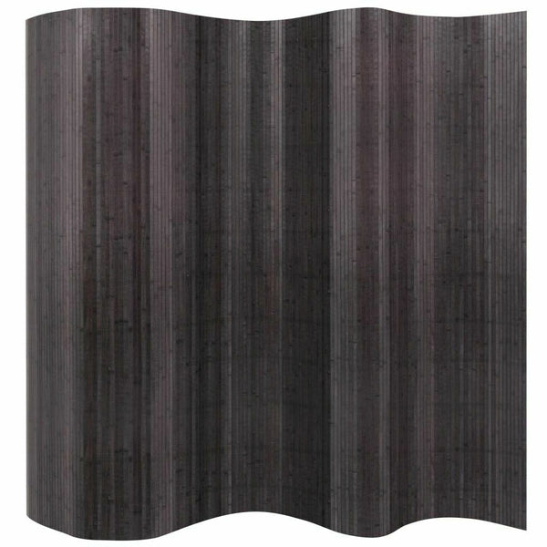2.5 Meter Tall Bamboo Room Divider - Grey