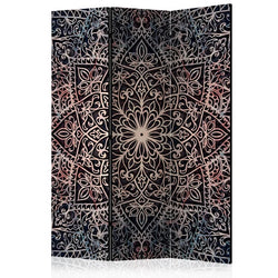 Mandala Room Divider - Purple/Black - 3 Panel