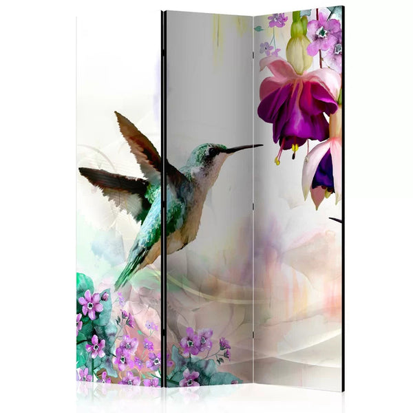 Hummingbird Room Divider - 3 Panel