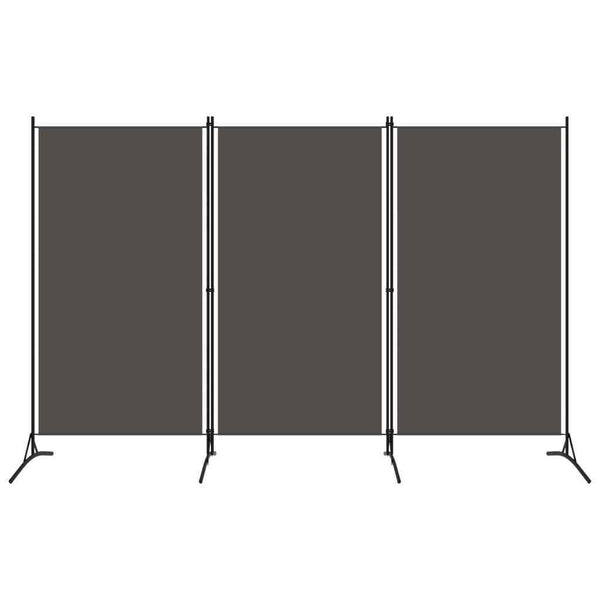 Bonilla Room Divider Screen - 3 Panel - Anthracite
