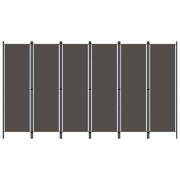 Whitford 6-Panel Room Divider -  Anthracite