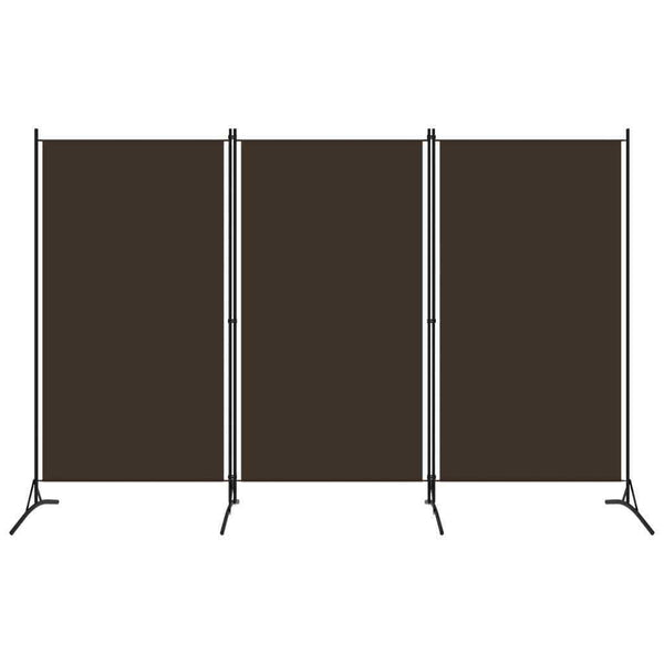 Bonilla Room Divider Screen - 3 Panel - Brown