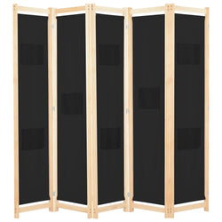 Alamo Room Divider Screen - 3 Panel - Black