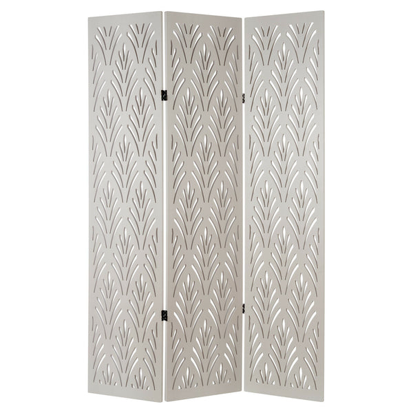 Amery 3 Panel Decorative Room Divider - Off White