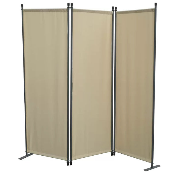 Karalis Room Divider Screen - 3 Panel - Beige