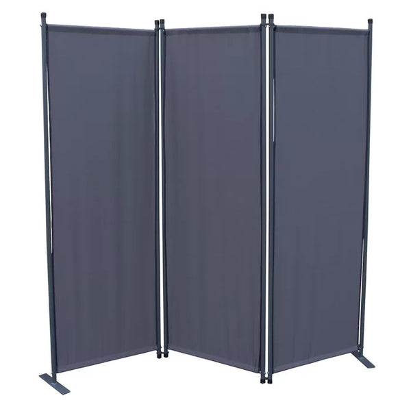 Karalis Room Divider Screen - 3 Panel - Grey