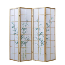 Natural Bamboo Shoji Screen - 4 Panels