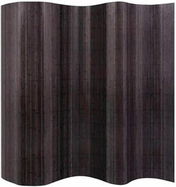 2.5 Meter Tall Bamboo Room Divider - Dark Brown