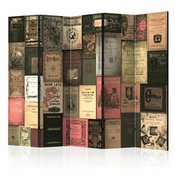 Books Room Divider - 5 Panel