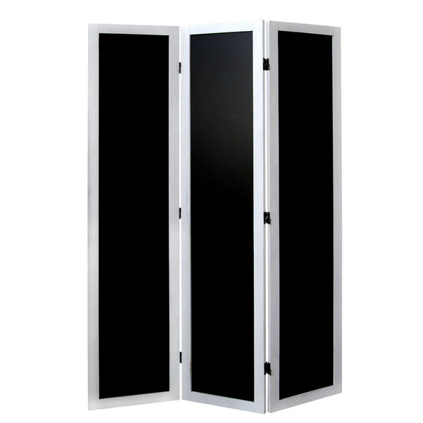 Black - 3 Panel Lucille Room Divider Screen