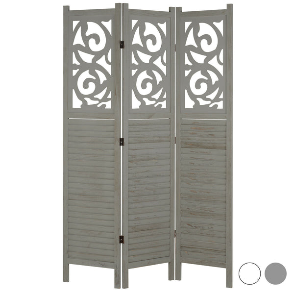 Sienna 3 Panel Wooden Room Divider - Grey