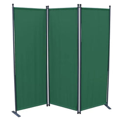 Karalis Room Divider Screen - 3 Panel - Green