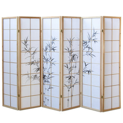 Natural Bamboo Shoji Screen - 6 Panels