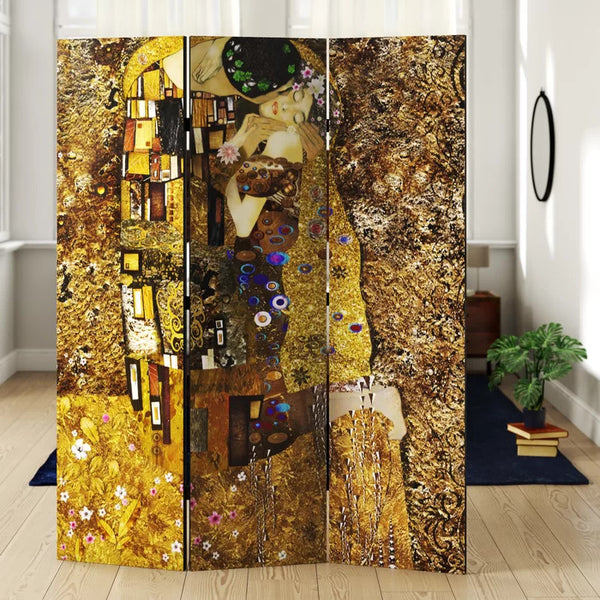 Gold Janelle Room Divider - 3 Panel
