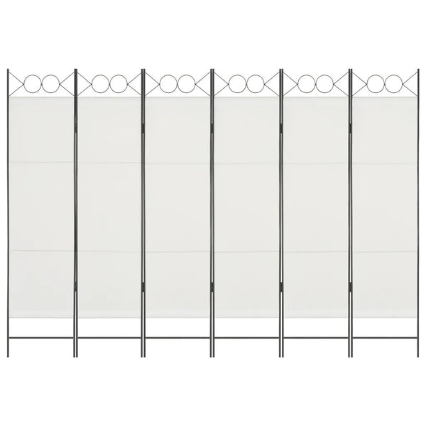 Amber 6 Panel Room Divider Screen - White