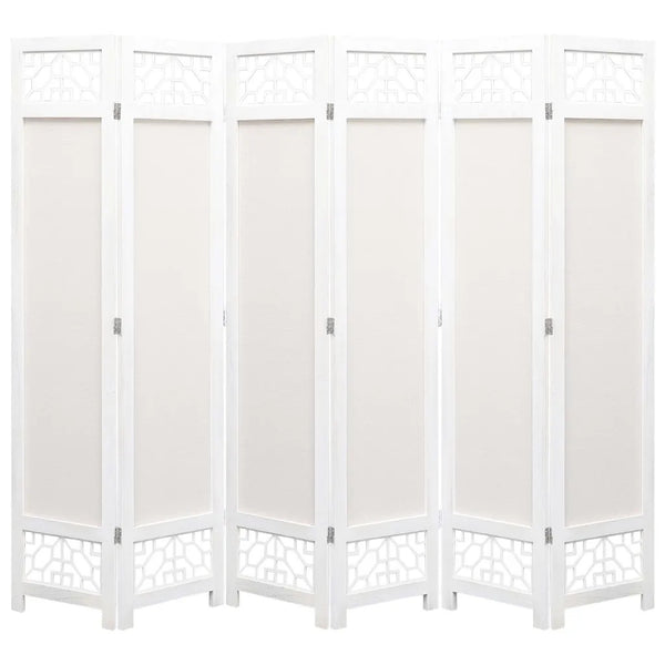Kara Room Divider Screen - 6 Panel - Cream