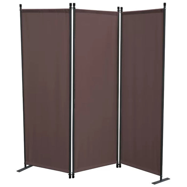 Karalis Room Divider Screen - 3 Panel - Taupe