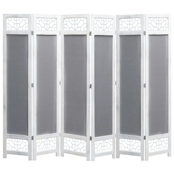 Kara Room Divider Screen - 6 Panel - Grey
