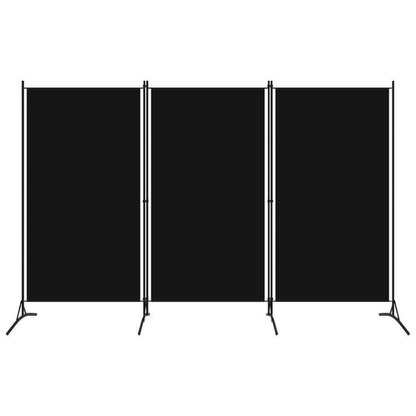 Bonilla Room Divider Screen - 3 Panel - Black